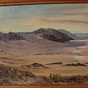 SOLD California plein air art desert painting signed VIRGIL TROTTER dated December 1943