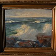 ELSIE LOUISE BROWN GROSSMAN (1888-1949) California plein air coastal landscape painting