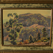 JOE WAANO-GANO (1906-1982) California plein air mountain landscape by noted artist of Native A