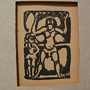 "GEORGES ROUAULT (1871-1958) French art woodblock print ""Jongleur"""