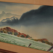 KENNETH K. HIGASHIMACHI (1901-1991) watercolor landscape painting possibly Hawaii by noted Jap