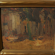 HALDANE DOUGLAS (1893-1980) early modernist painting by noted California artist