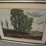 """After  MAURICE de VLAMINCK (1876-1958) aquatint print """"Le Village d'Herouville"""" by J"""