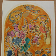 """MARC CHAGALL (1887-1985) original lithograph print """"The Tribe of Joseph"""" from The Je"""