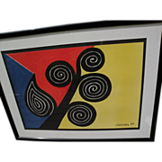 """ALEXANDER CALDER (1898-1976) offset lithograph print """"Summer""""  signed in the plate"""