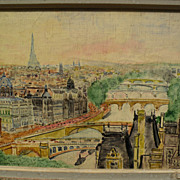 JOHANNES SCHIEFER (1896-1979) impressionist Paris painting by noted artist