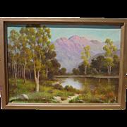 HERBERT SARTELLE (1885-1955) California plein air art  mountain landscape painting