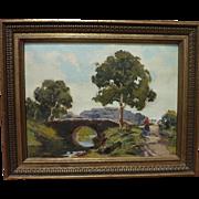 ILIO GIANNACCINI (1897-1968) luminous small impressionist Italian landscape painting