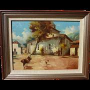 JULIO BEREGSZASZY (20th century Eastern European) impressionist painting of rural scene possib