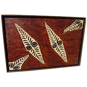 South Pacific islands tapa cloth painting