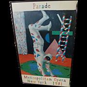 "DAVID HOCKNEY (1937-) original offset 1981 lithograph poster ""Harlequin for Parade"""