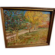 Southwestern American landscape painting probably New Mexico signed MIRIAM K. PARKER