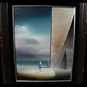 ROBERT WATSON (1923-2004) dream-like painting by the modern surrealist master artist