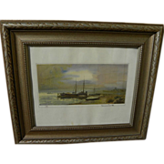Contemporary Russian signed watercolor landscape painting