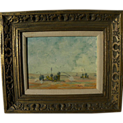 New Mexico impressionist landscape painting by Barbara White, first president of Grant County