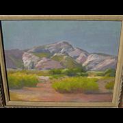 GEORGE BARKER, JR (1882-1965) California plein air art 1926 impressionist desert landscape pai