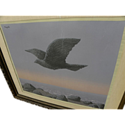 """RENE MAGRITTE (1898-1967) color lithograph """"L'Idole"""" of 1965 signed in pencil by wif"""