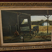 SOLD AUSTIN DEUEL (1939-) Texas Southwest art realism western tempera painting