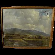 Irish art fine landscape painting by listed artist GERALD MARJORAM (1936-)