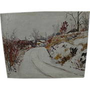 CHARLOTTE LIVINGSTON (1898-1991) impressionist winter landscape painting by listed American ..