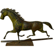 American 19th century folk art galloping horse weather vane