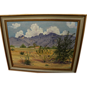 Southwest oil landscape painting probably Arizona