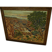 Vintage Grand Canyon Arizona painting in a primitive hand