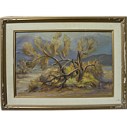 "California plein air art desert landscape painting ""Smoke Tree"" by listed artist Hay"