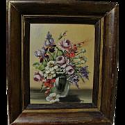 JANET EDNA GREENLEAF (1916-2003) floral still life painting