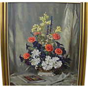 LAWRENCE WILBUR (20th century American) impressionist still life by well known New York area i