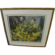 HENRIETTE WYETH (1907-1997) pencil signed limited edition collotype print of wildflowers paint