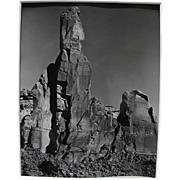 JOSEF MUENCH (1904-1998) black and white photograph of Arizona rock landscape by the noted ...