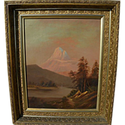 Early California art beautifully framed Thomas Hill style landscape painting signed and dated