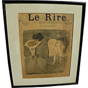 JEAN-LOUIS FORAIN (1852-1931) original cover lithography for Le Rire weekly satirical publicat