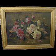 SOLD Vintage impressionist floral still life painting