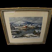 ALDRO THOMPSON HIBBARD (1886-1972) pencil signed print by important New England plein air pain