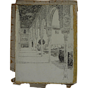 JOSEPH PENNELL (1857-1926) original 1896 published illustration drawing of the Alhambra by ...
