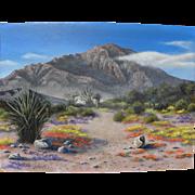 SOLD California desert painting signed Linda M. Henson