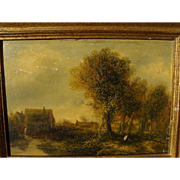 Nineteenth century Tonalist landscape painting after Old Masters