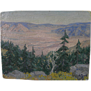 LYDIA B. FLORET impressionist 1944 California Mojave Desert landscape painting by 20th century