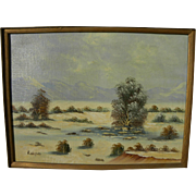 KENNETH WALFORD (20th century California) plein air desert painting