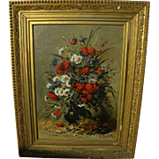 EUGENE PETIT (1839-1886) fine nineteenth century floral still life painting by noted French ar
