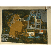 SOLD AUGUSTIN UBEDA (1925-2007) Spanish contemporary art signed limited edition lithograph pri