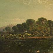 EDWIN H. BODDINGTON JR. (1836-1905) English 19th century art listed painter river scene