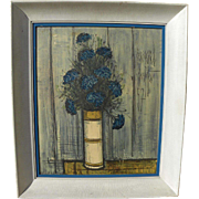 "After BERNARD BUFFET (1928-1999) framed vintage mid century color photographic print ""Blu"