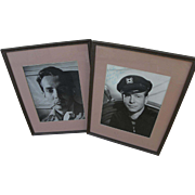 Hollywood memorabilia signed and inscribed photos of actors HURD HATFIELD (1917-1998) and GENE