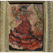 HELEN SAWYER (1900-1999) impressionist painting of a Spanish dancer by noted American National