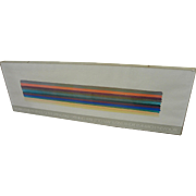 MORRIS LOUIS (1912-1962) gallery poster of Andre Emmerich Gallery 1968 exhibition