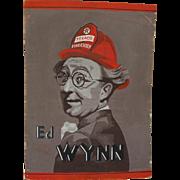 Petroliana original gouache drawing of comedian actor Ed Wynn of Texaco's 1930's The ...