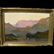 ALFRED DE BREANSKI SR. (1852-1928) impressive landscape painting of North Wales by acknowledge